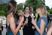 ELLIE SHARPE; LAURRETTA SUMMERSCALES; LORRAINE STEVENS, English National Ballet  evening of art, ballet and live performance inspired by Swan Lake, The Orangery, Kensington Palace London.  27 June 2012