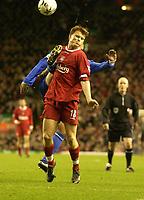 Fotball. Worthington Cup. 04.12.2002.<br /> Liverpool v Ipswich.<br /> John Arne Riise, Liverpool.<br /> Foto: Digitalsport