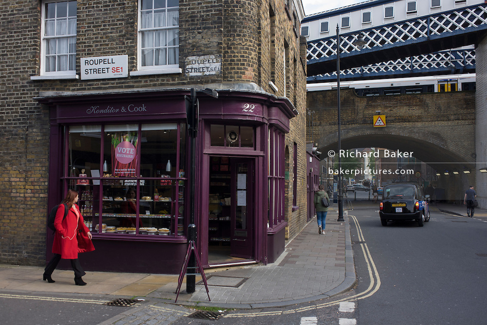 Victorian bakery/cafe on the corner of Roupell Street, Waterloo, south London.