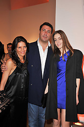 Left to right, BENEDETTA BRACHETTI, EDUARDO TEODORANI-FABBRI and DAVINA CORNISH at the TOD'S Art Plus Drama Party at the Whitechapel Gallery, London on 24th March 2011.