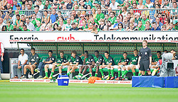 "28.07.2013, Weserstadion, Bremen, GER, 1.FBL, ""Tag der Fans 2013"" des SV Werder Bremen, Testspiel SV Werder Bremen vs Fulham FC, im Bild die Bremer Ersatzbank mit Robin Dutt (Cheftrainer SV Werder Bremen) und dessen Team // during the ""Tag der Fans 2013"" of the German Bundesliga Club SV Werder Bremen at the Weserstadion, Bremen, Germany on 2013/07/28. EXPA Pictures © 2013, PhotoCredit EXPA Andreas Gumz ***** ATTENTION - OUT OF GER *****"