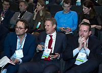 BUSSUM - NVG / NGF/ PGA congres 2018. The drive to happiness. Dirk-Jan Vink, Lodewijk Klootwijk en  Jeroen Stevens.  COPYRIGHT KOEN SUYK