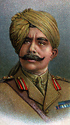 General Ganga Singh (1880-1943) Maharaja of Bikaner. During the First World War he commanded the Bikaner Camel Corps. Represented India in the British Imperial War Cabinet. Chromolithograph.