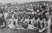 Tipperary All-Ireland Hurling Champions 1951. Back Row: Phil Purcell, Sean Kenny, Jimmy Kennedy, Jn Walsh, Jn Haugh, Tom Kevin, Dick Blake, Tony Reddan, Sonny Maher, Phil Shanahan, Tony Brennan, Con Keane, Rev J Ryan, Jn Doyle, J J Hayes. Middle Row: P Leahy, Mick Ryan, Tommy Doyle, Jimmy Fin (capt), Mickey Byrne, Ned Ryan, Seamus Bannon, Paddy Fleming, Philly Ryan, Gerry Doyle. Front Row: Paddy Kenny, Jn Purcell (Mascot), Pat Stakelum.
