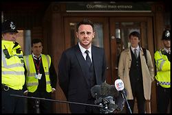 April 16, 2018 - London, London, United Kingdom - Ant McPartlin makes a statement outside of  Wimbledon Magistrates Court in South West London, UK, after pleading guilty of driving while under the influence of alcohol. (Credit Image: © Ben Stevens/i-Images via ZUMA Press)