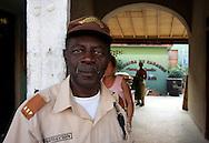 Guard at a cigar factory in Pinar del Rio, Cuba.