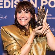 NLD/Amsterdam/20190212- Uitreiking Edison Pop 2019, Wende ontvangt een Edison voor Nederlandstalig