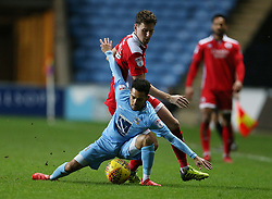 Coventry City's Devon Kelly-Evans and Crawley Town's Mark Randall