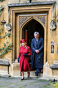 Oxford, GREAT BRITAIN., Royal visit to Magdalen College, by Her Majesty the Queen, Royal Highness the Duke of Edinburgh, Thursday 27/11/2008, [Mandatory Credit Peter Spurrier]