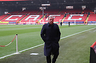 AFC Wimbledon manager Wally Downes on the pitch during the EFL Sky Bet League 1 match between Charlton Athletic and AFC Wimbledon at The Valley, London, England on 15 December 2018.
