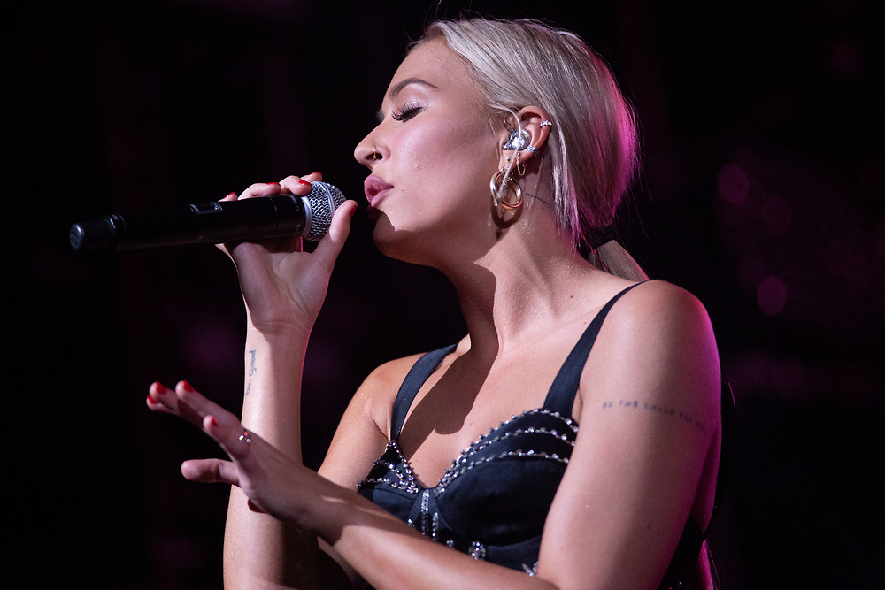 Lennon Stella performing at the Fiserv Forum in Milwaukee, WI on November 12, 2019.