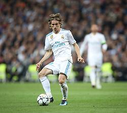 May 1, 2018 - Madrid, Spain - Luka Modric of Real Madrid controls the ball during the UEFA Champions League Semi Final Second Leg match between Real Madrid and Bayern Muenchen at the Bernabeu on May 1, 2018 in Madrid, Spain. (Credit Image: © Raddad Jebarah/NurPhoto via ZUMA Press)