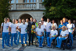 Slovenian Paralympic tema with Miro Cerar during reception of Slovenian Olympic Team at Vila Podroznik when they came back from Rio de Janeiro after Summer Olympic games 2016, on August 26, 2016 in Ljubljana, Slovenia. Photo by Matic Klansek Velej / Sportida
