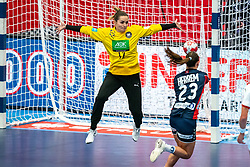 Dinah Eckerle of Germany in action during the Women's EHF Euro 2020 match between Germany and Norway at Sydbank Arena on december 05, 2020 in Kolding, Denmark (Photo by RHF Agency/Ronald Hoogendoorn)