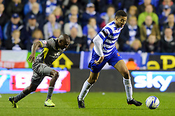 Michael Hector (ENG) of Reading in action - Photo mandatory by-line: Rogan Thomson/JMP - 07966 386802 - 14/04/2014 - SPORT - FOOTBALL - Madejski Stadium, Reading - Reading v Leicester City - Sky Bet Football League Championship.