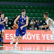 Darussafaka Dogus's and Anadolu Efes's during their Turkish Basketball League match Darussafaka Dogus between Anadolu Efes at Ayhan Sahenk Arena in Istanbul Turkey on Monday 11 January 2016. Photo by Aykut AKICI/TURKPIX