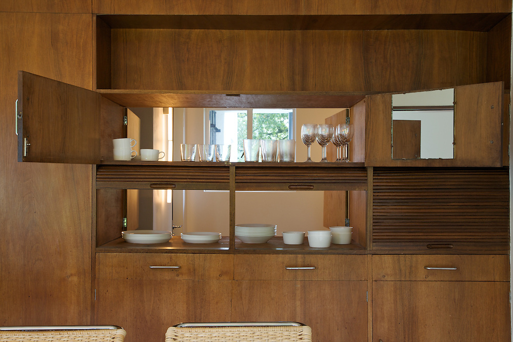 View through to the pantry from the dining room at Warren House, Wayne McGregor's Dartington Estate home in Devon<br /> Vanessa Berberian for The Wall Street Journal