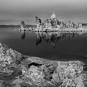 Mono Lake South Shore Tufa - Black & White