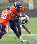 Sept. 3, 2011 - Charlottesville, Virginia - USA; Virginia Cavaliers running back Kevin Parks (25) runs the ball during an NCAA football game against William & Mary at Scott Stadium. Virginia won 40-3. (Credit Image: © Andrew Shurtleff