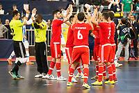 Benfica's players during UEFA Futsal Cup 2015/2016 3º/4º place match. April 22,2016. (ALTERPHOTOS/Acero)