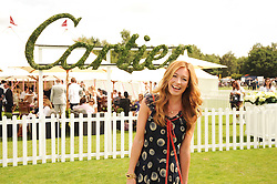 CAT DEELEY at the Cartier International Polo at Guards Polo Club, Windsor Great Park, Berkshire on 25th July 2010.