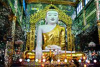 Sun U Ponya Shin Pagoda, atop Sagaing Hill, Sagaing, near Mandalay, Burma (Myanmar)