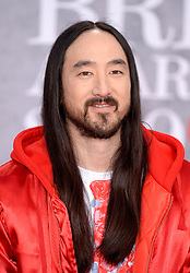 Steve Aoki attending the Brit Awards 2019 at the O2 Arena, London. Photo credit should read: Doug Peters/EMPICS Entertainment. EDITORIAL USE ONLY