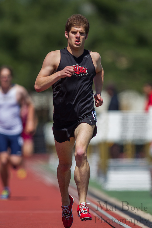 Men's 1500 meters at the NJAC Track and Field Championships at Richard Wacker Stadium on the campus of  Rowan University  in Glassboro, NJ on Sunday May 5, 2013. (photo / Mat Boyle)