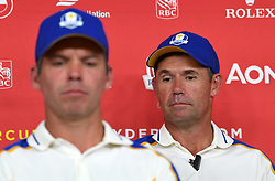 Team Europe captain Padraig Harrington during a press conference after defeat to Team USA at the end of day three of the 43rd Ryder Cup at Whistling Straits, Wisconsin. Picture date: Sunday September 26, 2021.