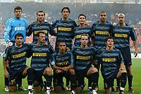 Milano 14/9/2004 Champions League Matchday 1<br /> <br /> Inter Werder Bremen 2-0 <br /> <br /> Inter<br /> <br /> Francesco Toldo, Christian Vieri, MArco Materazzi, Javier Zanetti, Adriano, Sebastian Veron<br /> <br /> <br /> <br /> Dejan Stankovic, Giuseppe Favalli, Ivan Cordoba, Andy Van Der Meyde, Belozoglu Emre<br /> <br /> Foto Andrea Staccioli Graffiti