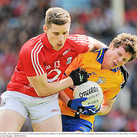 22 May 2011; Kevin Hartnett, Clare, in action against Daniel Goulding, Cork. Munster GAA Football Senior Championship Quarter-Final, Cork v Clare, Pairc Ui Chaoimh, Cork. Picture credit: Pat Murphy / SPORTSFILE