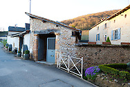 The Wine Route in early spring in Beaujolais, France. La Source des Fees, a bed and breakfast in the town of Fuisse on the very northern edge of Beaujolais, is in a 13th and 17th century chateau.  The hotel features spacious and tastefully decorated rooms, daily wine tastings and country style French cooking.