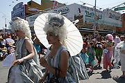 19 June 2010-Coney Island, Brooklyn, New York-Atmosphere at The 2010 Mermaid Parade where King Neptune Lou Reed and Queen Mermaid presided over the festivities of the Mermaid Parade...A completely original creation of Coney Island USA, the Mermaid Parade is the nation's largest art parade and one of New York City's greatest summer events.The Mermaid Parade celebrates the sand, the sea, the salt air and the beginning of summer, as well as the history and mythology of Coney Island, Coney Island pride, and artistic self-expression.