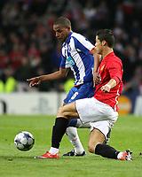 20090415: PORTO, PORTUGAL - FC Porto vs Manchester United: Champions League 2008/2009 – Quarter Finals – 2nd leg. In picture: Fernando and Cristiano Ronaldo. PHOTO: Manuel Azevedo/CITYFILES
