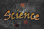 Science Graffiti on a wall