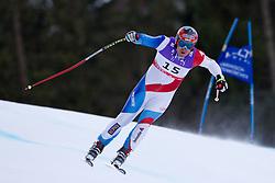 10.02.2011, Kandahar, Garmisch Partenkirchen, GER, FIS Alpin Ski WM 2011, GAP, Herren Abfahrtstraining, im Bild Didier Cuche (SUI) takes to the air competing in the first men's downhill training run on the Kandahar race piste at the 2011 Alpine skiing World Championships, EXPA Pictures © 2011, PhotoCredit: EXPA/ M. Gunn