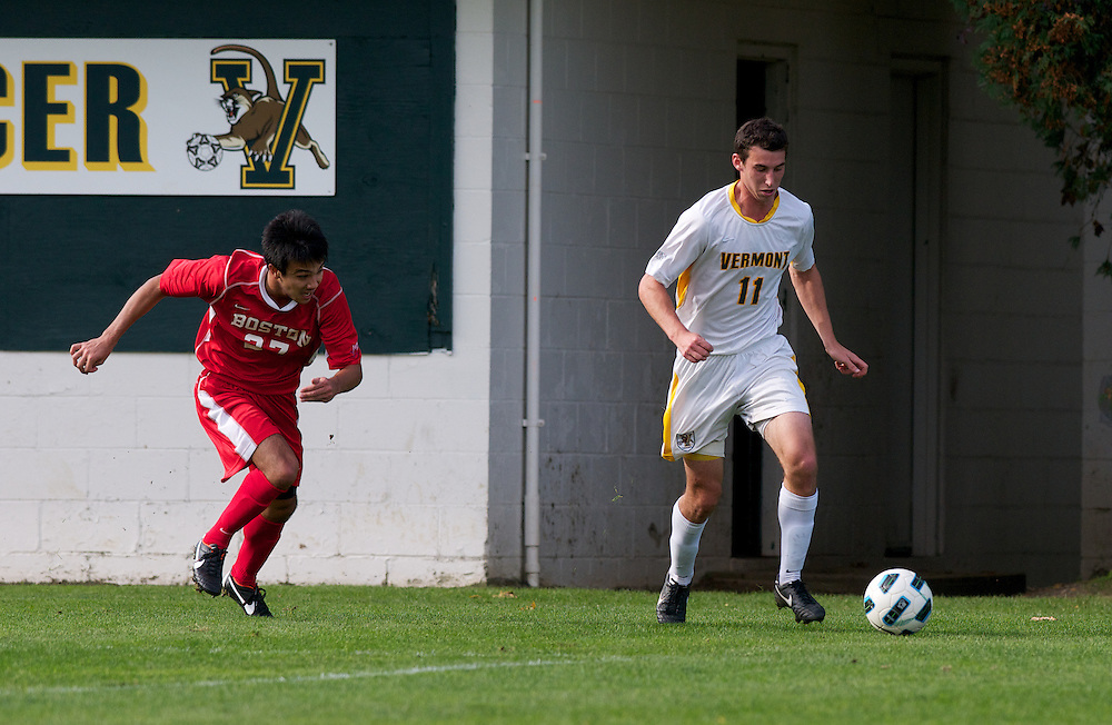 Boston University and the Vermont Catamounts men's soccer game at Centennial Field on Wednesday afternoon October 12, 2011 in Burlington, Vermont.