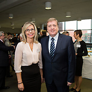 20.01.17<br /> Minister of State for Employment and Small Business, Deputy Pat Breen addressed a seminar for SMEs on The Role of Education in Supporting Small Business at University of Limerick.<br /> <br /> Pictured at the event were, Dr. Emma O'Brien, UL and Minister of State for Employment and Small Business, Deputy Pat Breen.<br /> <br />  Jointly hosted by the Kemmy Business school and the faculty of Science and Engineering, the event brought together small and medium enterprises along with representative bodies, Local Enterprise Offices, Chambers of Commerce, Irish Small and Medium Enterprises association (ISME), Enterprise Ireland and the IDA. The aim of the event was to stimulate greater collaboration between third level institutes and SMEs in relation to research, education and business advice. To date, University of Limerick and Limerick Institute of Technology have supported a number of start-ups through the Nexus Innovation Centre and LIT's Enterprise Centres while academic staff have provided expert advice to local companies. Picture: Alan Place
