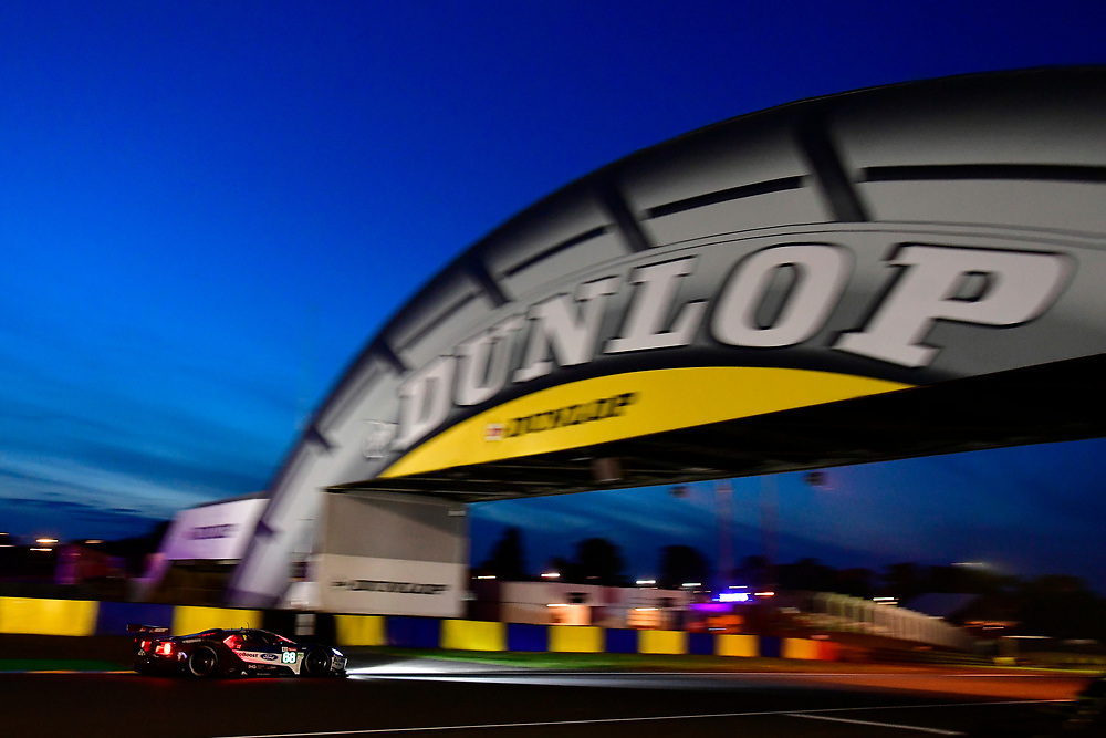 #68 Ford Chip Ganassi Racing Ford GT: Joey Hand, Dirk Müller, Sébastien Bourdais<br /> Saturday 16 June 2018<br /> 24 Hours of Le Mans<br /> 2018 24 Hours of Le Mans<br /> Circuit de la Sarthe WI FR<br /> World Copyright: Scott R LePage