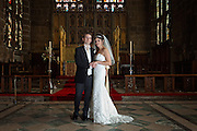 Sarah & Seb at the Altar of St. Mary's, The Lace Market, Nottingham