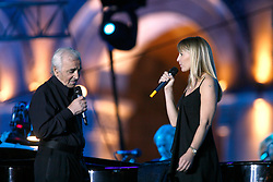 Singer Charles Aznavour performs with his daughter Katia during his concert in Yerevan, Armenia, September 30, 2006. Photo by Thierry Orban/ABACAPRESS.COM
