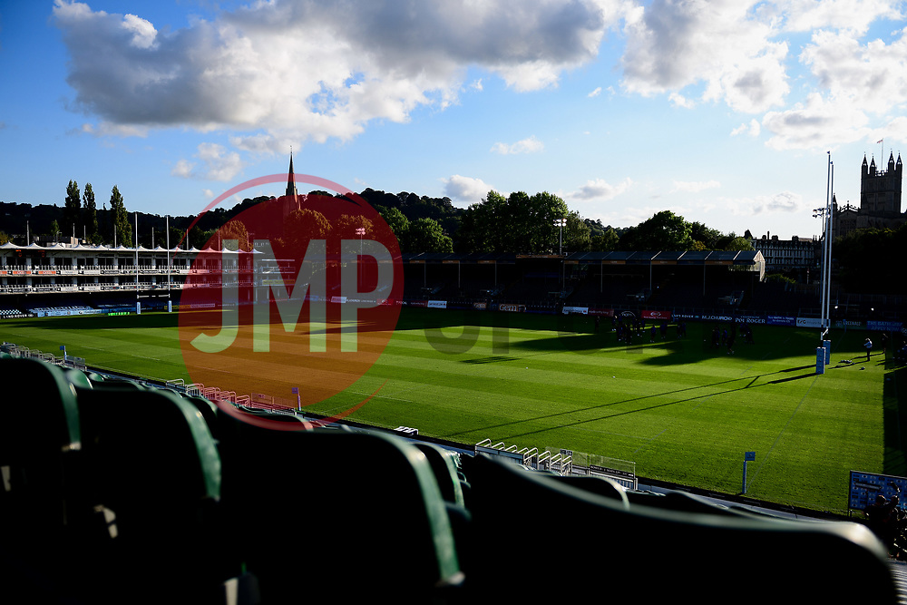 A general view of the Recreation Ground prior to kick off - Mandatory by-line: Ryan Hiscott/JMP - 09/09/2020 - RUGBY - Recreation Ground - Bath, England - Bath Rugby v Worcester Warriors - Gallagher Premiership Rugby