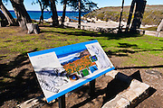 Interpretive sign at the visitor center, Montana de Oro State Park, California USA
