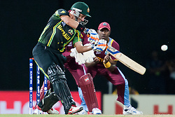 © Licensed to London News Pictures. 05/10/2012. Australian Michael Hussey batting during the World T20 Cricket Mens Semi Final match between Australia Vs West Indies at the R Premadasa International Cricket Stadium, Colombo. Photo credit : Asanka Brendon Ratnayake/LNP