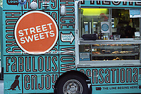 An alternative to hot-dogs or gyros - Street Sweets; seen on Fifth Avenue and 83rd street, New York City.