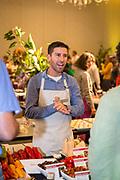 PEPPER (AJI), Capsicum baccatum <br />Showcase: 'Aji Rico' F1<br />Breeders: Ellen Leue, Handpicked Vegetables/Ball Horticultural Co. & Jim Nienhuis, University of Wisconsin<br />Chef: Vince Nguyen, Jolie Laide <br />Dish: Fluffy Vanilla and Aji Rico Sorbet