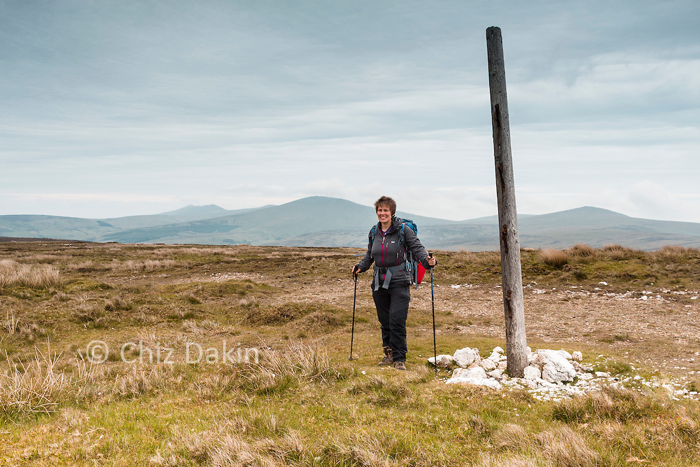 A large pole marks the summit of Sartfell