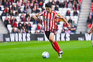 Luke O'Nien of Sunderland (13) in action during the EFL Sky Bet League 1 first leg Play Off match between Sunderland and Portsmouth at the Stadium Of Light, Sunderland, England on 11 May 2019.