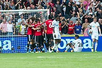 Football - 2017 / 2018 Premier League - Swansea City vs. Manchester United<br /> <br /> —Man Utd celebrate their 2nd goal <br /> , at Liberty Stadium.<br /> <br /> COLORSPORT/WINSTON BYNORTH