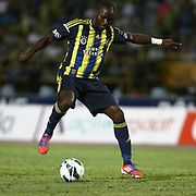 Fenerbahce's player Moussa Sow with the ball during their Turkish superleague soccer match S.B. Elazigspor between Fenerbahce at the Ataturk stadium in izmir Turkey on Saturday 18 August 2012. Photo by TURKPIX